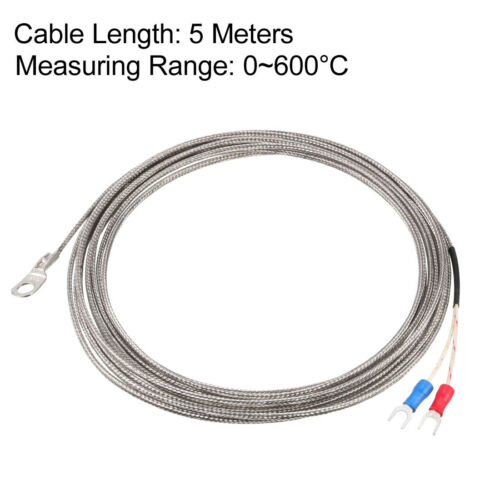 uxcell Pt100 Thermocouple Temperature Sensor Probe with 2M Cable 6mm Hole 113-788F//-45-420C