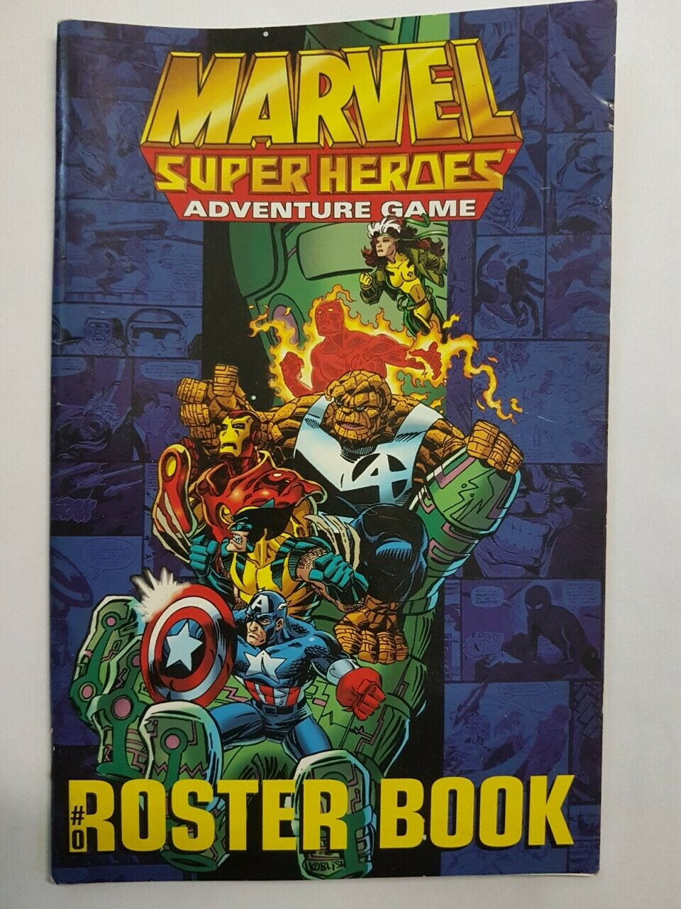 ROSTER BOOK - MARVEL SUPER HEROES ADVENTURE GAME - (SOFTCOVER)