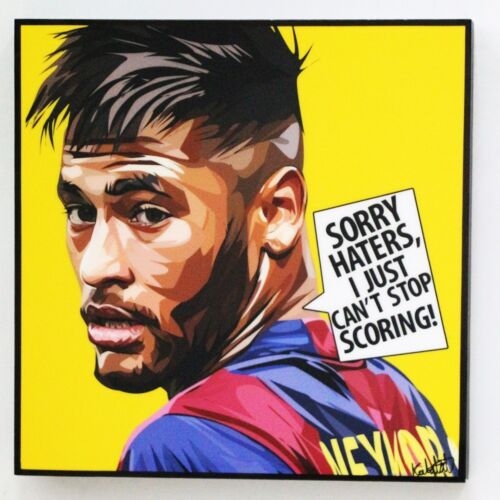 Neymar Jr canvas quotes wall decals photo painting pop art poster #2