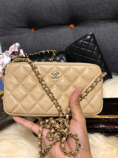 Crossbody, Chanel, Chanel Classic Clutch with Chain ,…