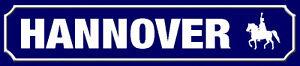 Hannover Road Sign Arched Metal Sign Metal Street Sign 10 X 46 CM SM0985