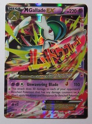 Pokemon TCG XY ROARING SKIES MEGA M GALLADE EX 35//108 Ultra Rare Holo NM Bonus