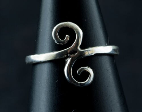 Ring Foot Toe Tribal Adjustable-Jewel Solid Silver 925-0.8g-k32 8968