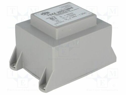 PCB Transformador encapsulado 30VA 230VAC 24V 1.25A Montaje 1 piezas