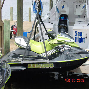 Details about 1500# PWC Jet Ski Lift Dock Hoist Harness Sling Lifting  Straps seadoo cradle new