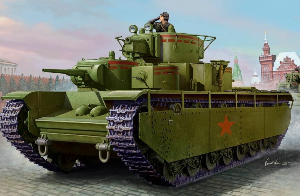 Hobbyboss Soviet T-35 Heavy Tank Early Armored 1 35 Car Plastic Model Kit 83841