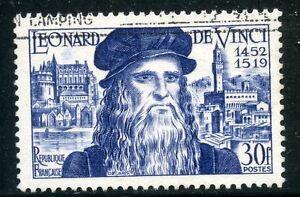 Humble Stamp / Timbre France Oblitere N° 929 / Celebrite / Leonard De Vinci Cote 8,40 € ModéLisation Durable