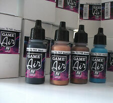 NEW COLOURS VALLEJO GAME AIR ACRYLIC AIRBRUSH PAINTS CHOOSE ANY 7 x 17ml BOTTLES