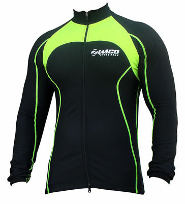 Zimco Pro Bike Jacket Cycling Viz Jacket Winter Soft Shell Wind Jersey Neon