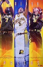 2001 Indiana Pacers Reggie Miller Jalen Rose Jermaine O'Neal Starline Poster OOP