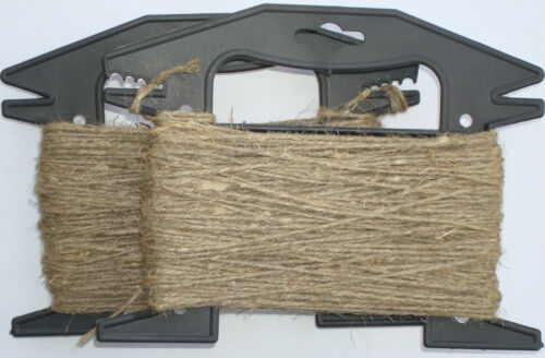 Leinen Flachs Seil Schnur Hanf Natürlich Handwerk Verdreht Geflochtene 1.5mm
