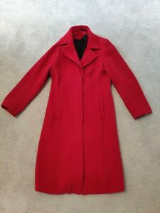 Austin Reed Women S Cashmere Red Coat Size 14 Ebay