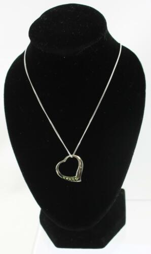 Sterling Silver Toucan Birthstone Heart Pendant /& Necklaces