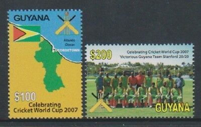 Sg 6644/5 Mnh 2007 Guyana World Cup Cricket West Indies Set