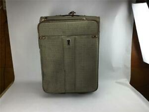 London Fog Luggage 25 Suitcase Expandable Houndstooth Wembley 8000 2 Wheels Ebay