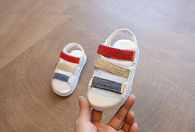 Kinder Jungen Mädchen Sommer Sandalen Klettverschluss LED Leuchtende BlinkSchuhe