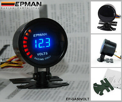 52mm Car Auto Gauge Meter OIL TEMPERATURE DIGITAL Smoked Effect HIGH QUALITY NEW
