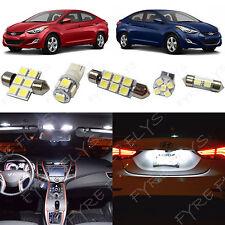 8x White LED light interior package kit for 2011-2016 Hyundai Elantra YE1W
