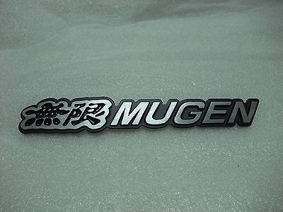 NEW 3D For MUGEN Emblem Metal Aluminum Trunk Badge STICKER LOGO -black