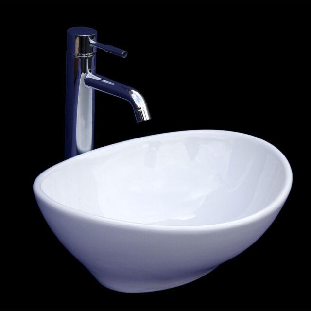 Lux-aqua kleines Waschbecken Gäste WC Waschtisch 405x330x140mm 4047 ...