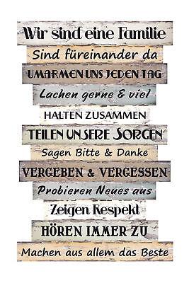 Holzschild Schild Vintage Shabby Nostalgie Dekoschild Mein Haus meine Regeln