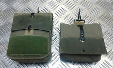 Genuine Vintage French F2 Ammo / Medic Canvas Pouch Military Green