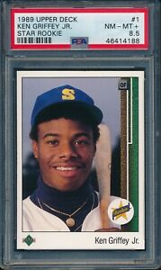 1989-Upper-Deck-Baseball-Ken-Griffey-Jr-R-1-PSA-8-5-MARINERS-NM-MT-HOF