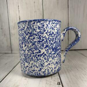 Arthur-Wood-England-Coffee-Tea-Cup-Blue-Sponge-Design-Saxon-Handcrafted