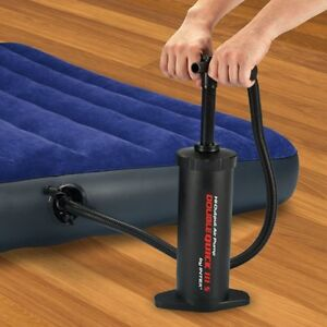 Double Action Hand Air Pump Inflatable Float Tube Raft Boat Kayak Mattress 14.5