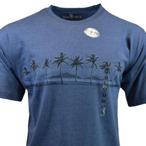 NEWPORT-BLUE-Mens-Tee-T-Shirt-M-L-XL-2XL-Hawaiian-Beach-Sleeve-NEW-100-Cotton