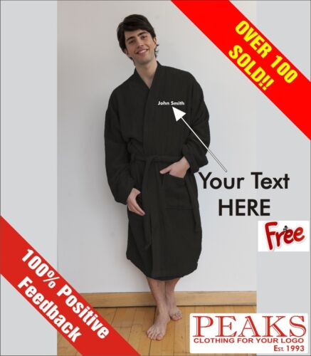 Dressing Gown PERSONALISED..A VERY SPECIAL GIFT Mens//Ladies Bath Robe