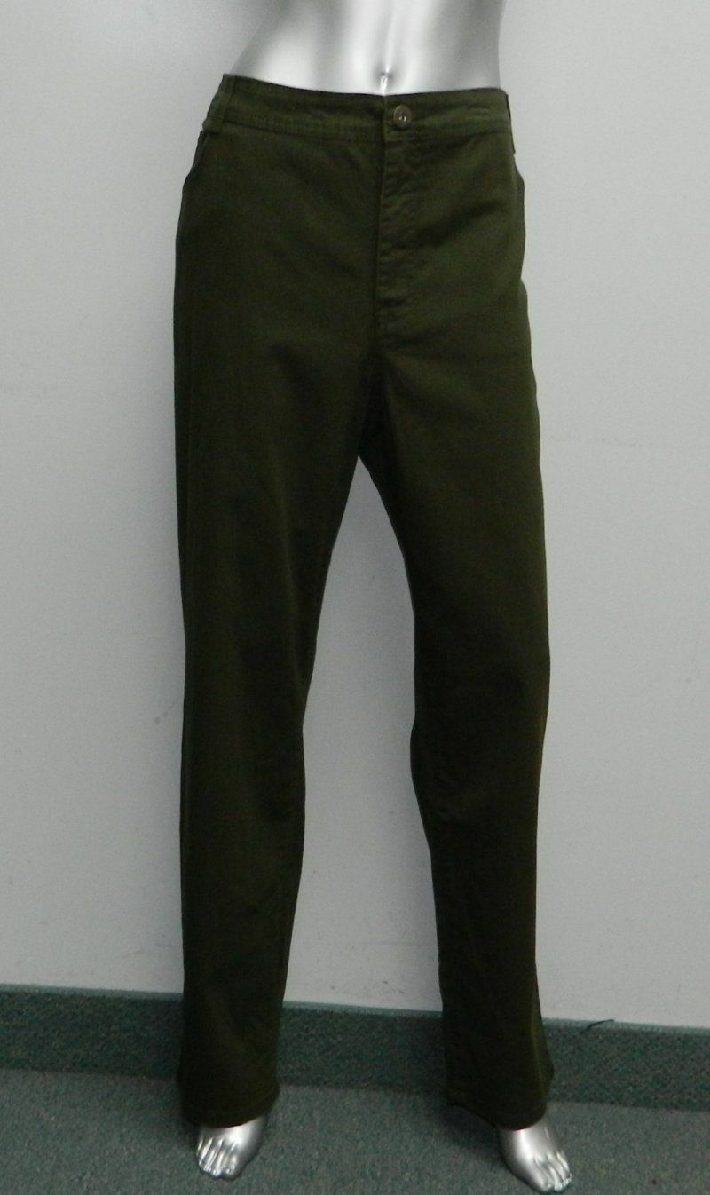 90a6aaef985 Style   Co Womens Slim Leg Jeans Pants Plus Size 24w Olive Green
