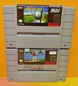 Hole-in-One-Waialae-Golf-Super-Nintendo-SNES-Authentic-Game-Tested-Working