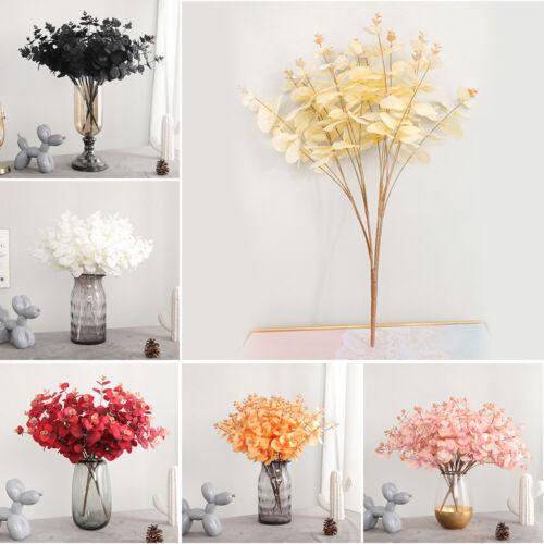 5 Twigs 20 Heads Imitation Artificial Eucalyptus Flower Wedding Home Decor