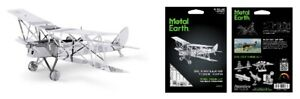 Metal-Earth-DH82-Tiger-Moth-3D-Metal-Kit-Silver-Edition-1066