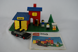 Lego-Classic-City-368-Taxi-Station-with-instructions-no-box-1976