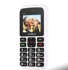 Zanco Big Button Handy grosse Klartext einfache Basic benutzerfreundliche Oap SOS