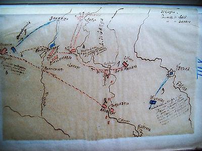 1796 Napoleon Armata D'italia Plant Handwritten Battle Salo' And Lonato Collectibles