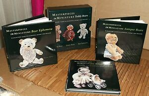 Barrons Masterpieces in Miniature Teddy Bears Three Book Set New 1999 1st Ed