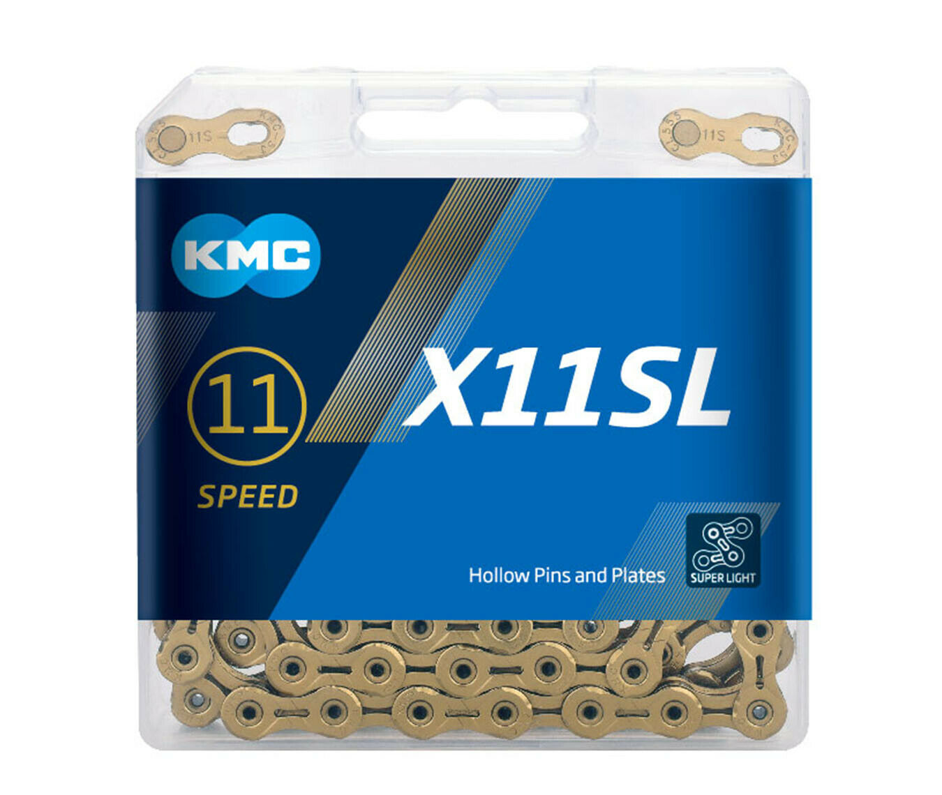 VH88 KMC X11SL Super Light Chain, gold, 11 speed, 118 links (2018 Edition)