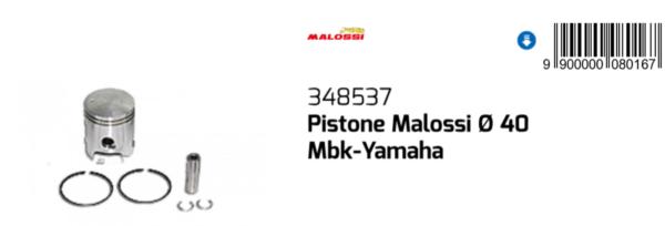 348537 Pistone Malossi Ø40 Aprilia Gulliver 50 / Lc 1995-1998