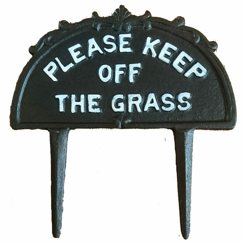 Classic Cast Iron Please Keep Off The Grass Sign