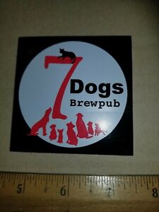 7-Dogs-Brewpub-Sticker-Decal-Wytheville-VA