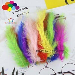 100-Pieces-4-6-in-10-15-cm-Turquie-marabou-plumes-Moelleux-Robe-de-Mariee-A-faire-soi-meme