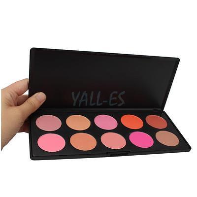 Professional 10 Colors Cosmetic Contour Face Powder Makeup Blush Blusher Palette
