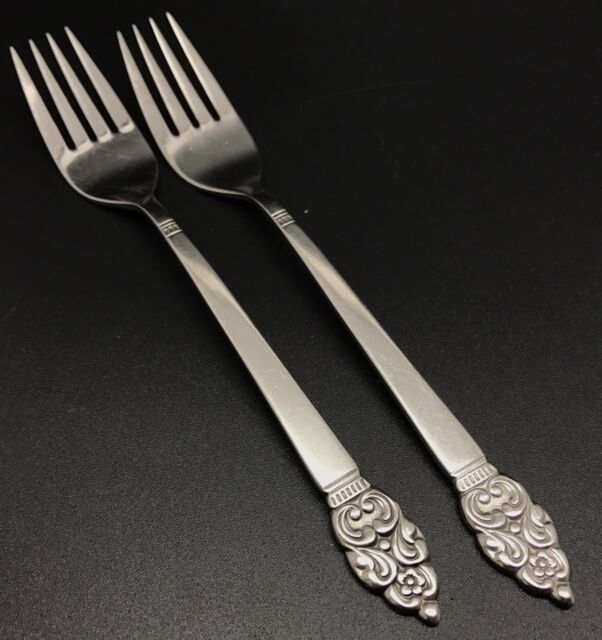 "Oneida Twin Star 7 1//4/"" Dinner Fork stainless flatware Oneida vintage nice"