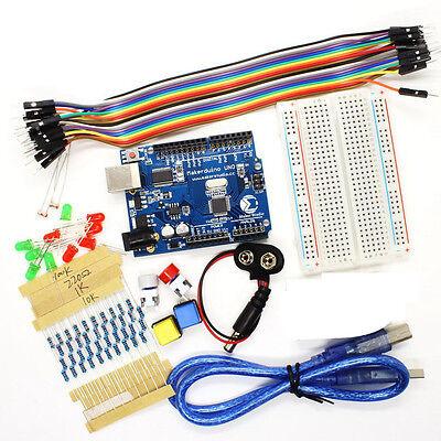 Starter Kit UNO R3 mini Breadboard LED jumper wire button for Arduino Compatible