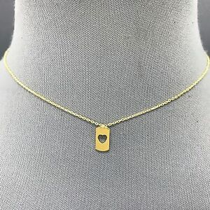 Fashionable classic dainty gold metal open bar heart shaped pendant image is loading fashionable classic dainty gold metal open bar heart aloadofball Image collections