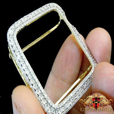 buy popular 9e6aa 19558 Apple Watch Genuine Diamond Case 40MM Sport Bezel 1.25 Ctw Yellow Gold  Finish | eBay