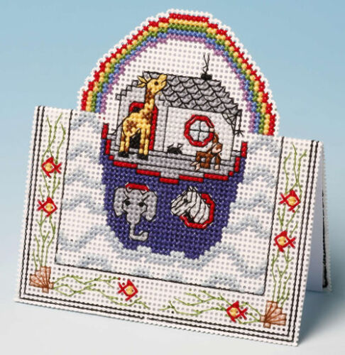 Noah/'s Ark Card 3D Counted Cross Stitch Kit Occasion Birthday Birth Sampler